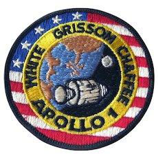 Apollo 1 NASA Jacket Patch Original 1960's Space Memorabilia - First Apollo Mission