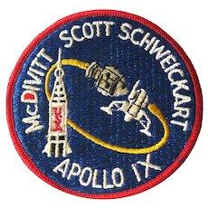 NASA Apollo IX Jacket Patch - Astronauts - Space Memorabilia