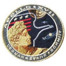 Original Apollo 17 NASA Embroidered Patch - Space Exploration - Moon Landing - Apollo XVII