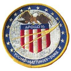 NASA Apollo 16 Embroidered Patch - Space Travel - NASA Space Program - Moon Landing