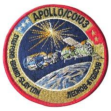 Apollo Soyuz Embroidered Patch - NASA Pilots and Russian Cosmonauts - Space Station