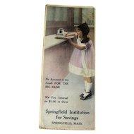Vintage Advertising Ink Blotter / Advertising Trade Cards / Vintage Illustration / Bank Advertising