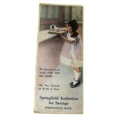 Vintage Advertising Ink Blotter / Advertising Trade Cards / Vintage Illustration / Bank Advertising
