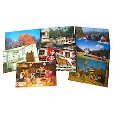 Santa Land and More Photograph Postcard Destash Lot / Vintage Postcards / Vintage Ephemera / Souvenir Post Cards