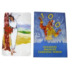 Mainz Germany Carneval and Mexcan Dress Woman Art Post Cards