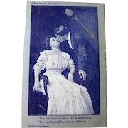 Spooners Delight Vintage Postcard - Photo Postcard - Lovers Postcard - Romantic Post Card - Vintage Ephemera