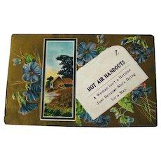 Heroine Postcard Gilded Background and Flowers - Vintage Ephemera - Womans Post Card - 1911 Postcard