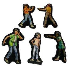 School Boys Cardboard Cut Outs - Magnetic Art - Teaching Tools - Holt Rinehart Winston - Educational Materials - Classroom
