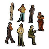 Men Cardboard Cut Outs - Magnetic Art - Teaching Tools - Holt Rinehart Winston - Educational Materials - Classroom