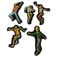 Active Boys Cardboard Cut Outs - Magnetic Art - Teaching Tools - Holt Rinehart Winston - Educational Materials - Classroom