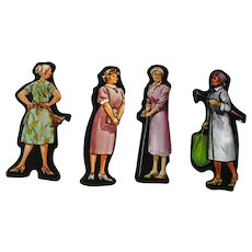 Grandmothers Set Of Six Cardboard Cut Outs - Magnetic Art - Teaching Tools - Holt Rinehart Winston - Educational Materials - Classroom