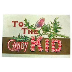 Candy Kid Vintage Postcard Vintage Ephemera