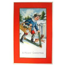 Whitney Christmas Postcard Vintage Ephemera Holiday Post Cards