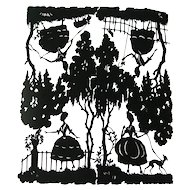 Scherenschnitt Cut Paper Silhouettes - Die Cut Romantic Scenes - Paper Art