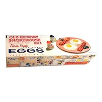Fun Vintage Egg Carton With Advertising Graphics - Cardboard Carton - Vintage Kitchen - Kitchen Decor - Easter
