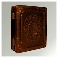 Antique Victorian Daguerreotype In Ornate Gutta Percha Union Case