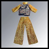 Vintage MOD Barbie Disco Shimmering Lounging Pajamas