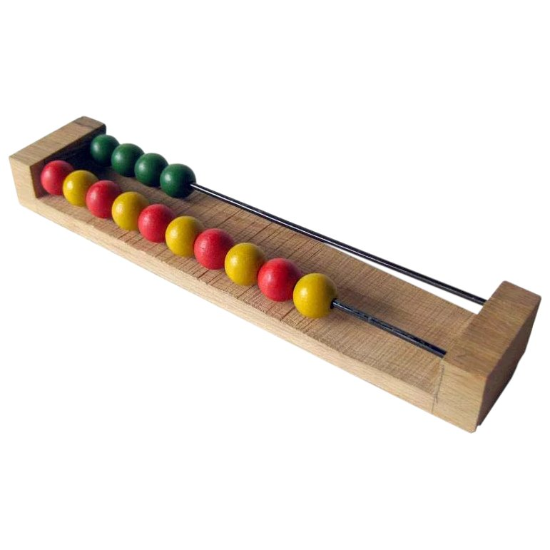 Vintage Wooden Bead Abacus / Vintage Toy / Math Toy ...