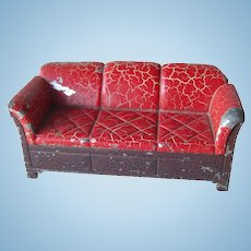 Tootsie Toy Cast Iron Couch / Miniature Dollhouse Furniture / Dollhouse  Miniature Couch
