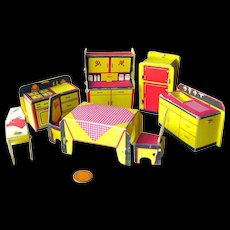 Built Rite Miniature Dollhouse Kitchen Furniture Set No 49 / Dollhouse Kitchen / Miniature Kitchen