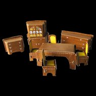 Vintage Dollhouse Dining Room Set by Built Rite / Dollhouse Dining Room / Miniature Diningroom