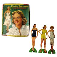 Barbara Britton Paper Dolls by Saafield - 1950s Paper Dolls - Vintage Toy - Television Doll - Boxed Set Paper Dolls