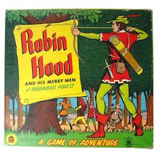 Robin Hood And His Merry Men 3D Game - Pop Up Game - Vintage Game - Harett Gilmar Game - 1950s Board Game