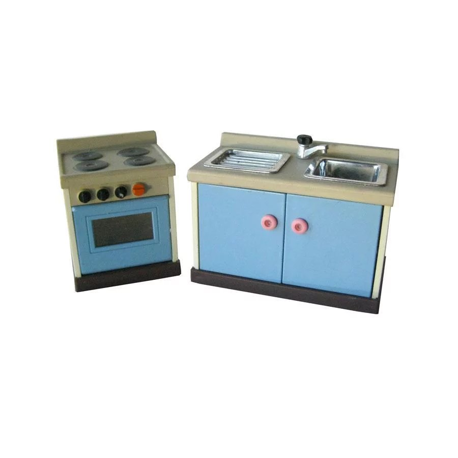 Miniature Dollhouse Sink Set by M C Toys - Dollhouse Kitchen ...