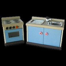Miniature Dollhouse Sink Set by M C Toys - Dollhouse Kitchen - Miniature Kitchen - Doll House Furniture