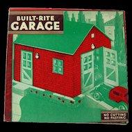 Built Rite Garage Dollhouse - Dollhouse Miniatures - Warren Paper Company - NOS Doll House