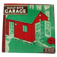 Built Rite Garage Dollhouse - Dollhouse Miniatures - Warren Paper Company - NOS Doll House