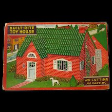 Vintage Miniature Dollhouse by Built Rite - Warren Paper Company - Dollhouse Kit