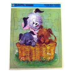 Whitman Puppy Jigsaw Puzzle DELIGHTFUL DOGGIES Great for Kids Room Decor