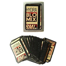 Die Cut Advertising Deck of Playing Cards For BMI Inc Vintage Games Bridge Cards GEMACO Playing Cards