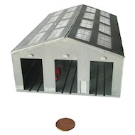 S Scale Railroad Engine House Model Train Scenery - Miniatures