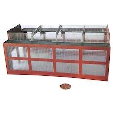 Model Train Engine House in Gropius Style - Model Railroad Scenery - Miniature Building