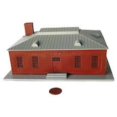 Model Train Red Brick Building Model Railroad Scenery - Miniature Town
