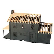 Railroad Model Train House Under Construction by Plasticville - Model Train House
