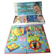 Captain Kangaroo Board Game by Milton Bradley - Vintage Board Game In Unused Condition - Collectible Board Game
