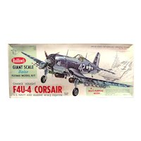 Model Airplane Kit by Guillows - Scale Model Airplane F4U4 US Navy and Marine WW2 Fighter Plane