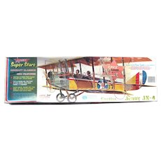 Curtiss Jenny JN4 Model Airplane by Comet Balsa Wood VIntage Plane Kit - Plane Model
