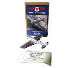 TEXACO Limited Edition 1932 Northrop Gamma Die Cast Bank - New In Box Coin Bank - Advertising