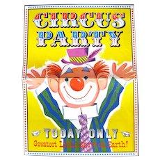 Pillsbury Promotional Circus Birthday Party Kit - 1960s Birthday Party Planer, Circus Party