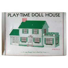 Built Rite Play-Time Dollhouse No 28 Unused, Collectibles Dollhouse, Vintage Doll House