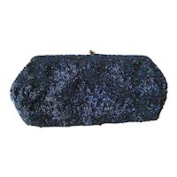 Hand Beaded Evening Bag by Josef With Change Purse Vintage Clutch Purse