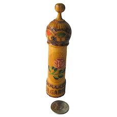 Hand Carved Perfume Bottle Holder Souvenir Of Bulgaria Hand Painted Vanity Table