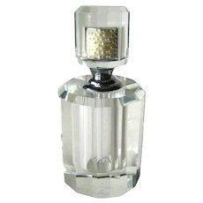 Designer Crystal Perfume Bottle by Oleg Cassini Vintage Fragrance Bottle Collectible Perfume Bottle