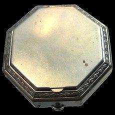 Art Deco Lazell Vintage Powder Octagonal Compact 1930's de Meridor - Vanity Compact - Purse Accessory - Compressed Powder Compact
