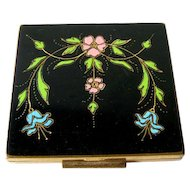 Enamel Compact by Shields Inc - Art Deco Compact - Fillwick Co Compact
