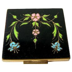Enamel Compact by Shields Inc - Art Deco Compact - Fillwick Co Compact